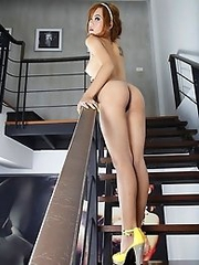 Kai Nee models on the Stairs