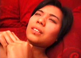 Tight japanese pussy deeply banged